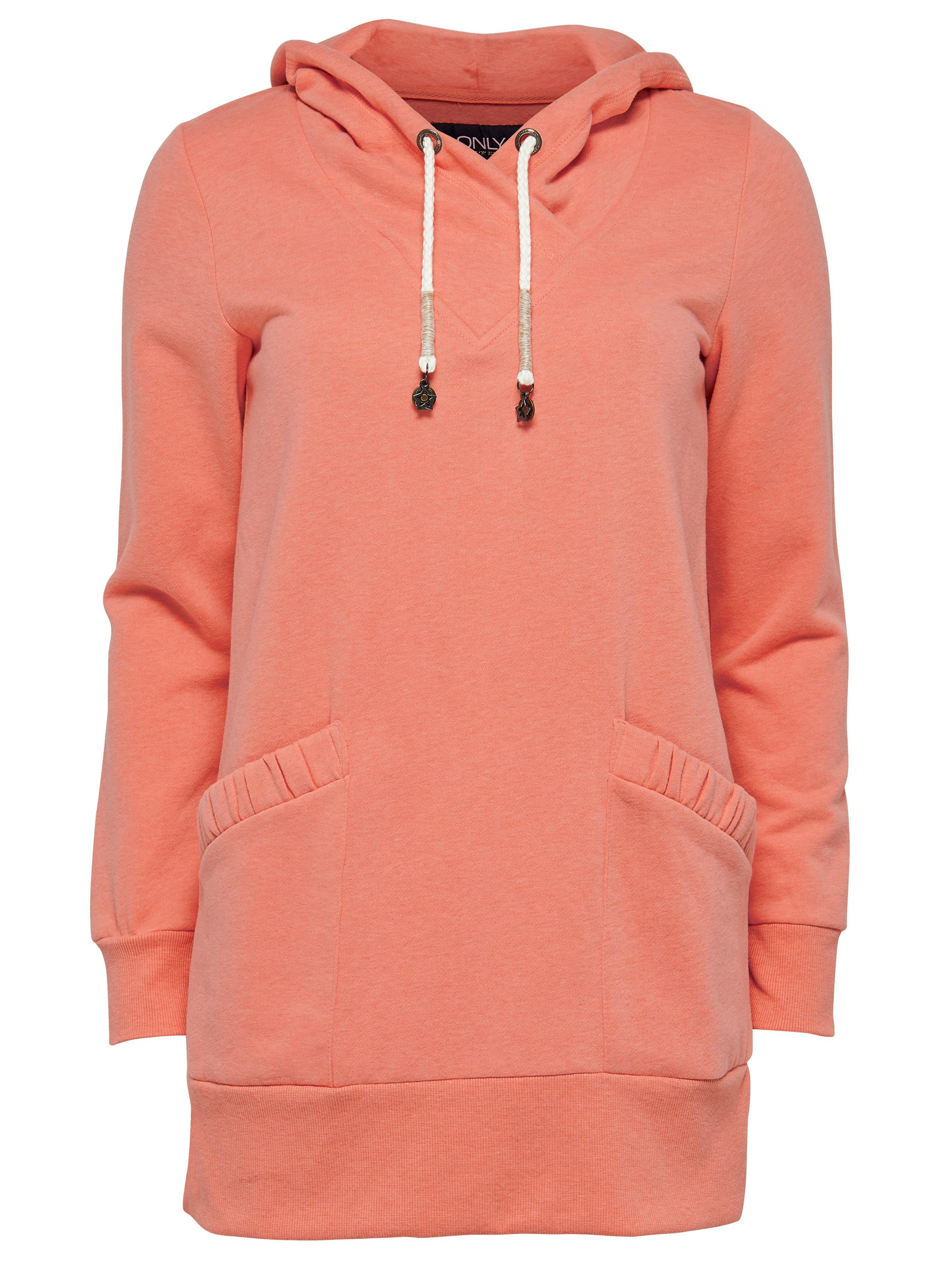 only damen sweatshirt sweat pullover onlnora l s hood long swt blau orange rosa marken only. Black Bedroom Furniture Sets. Home Design Ideas