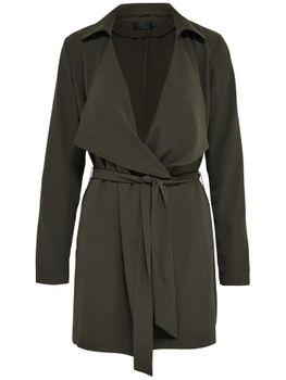 ONLY Damen Mantel Jacke onlNEW WITHNESS TRENCHCOAT OTW schwarz grün – Bild 3