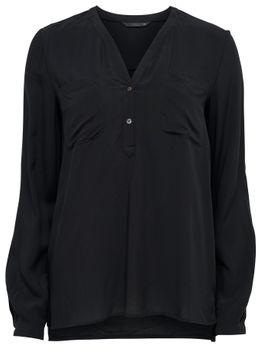 ONLY Damen Bluse Tunika NOVA SOLID L/S SHIRT WVN vokuhila 001