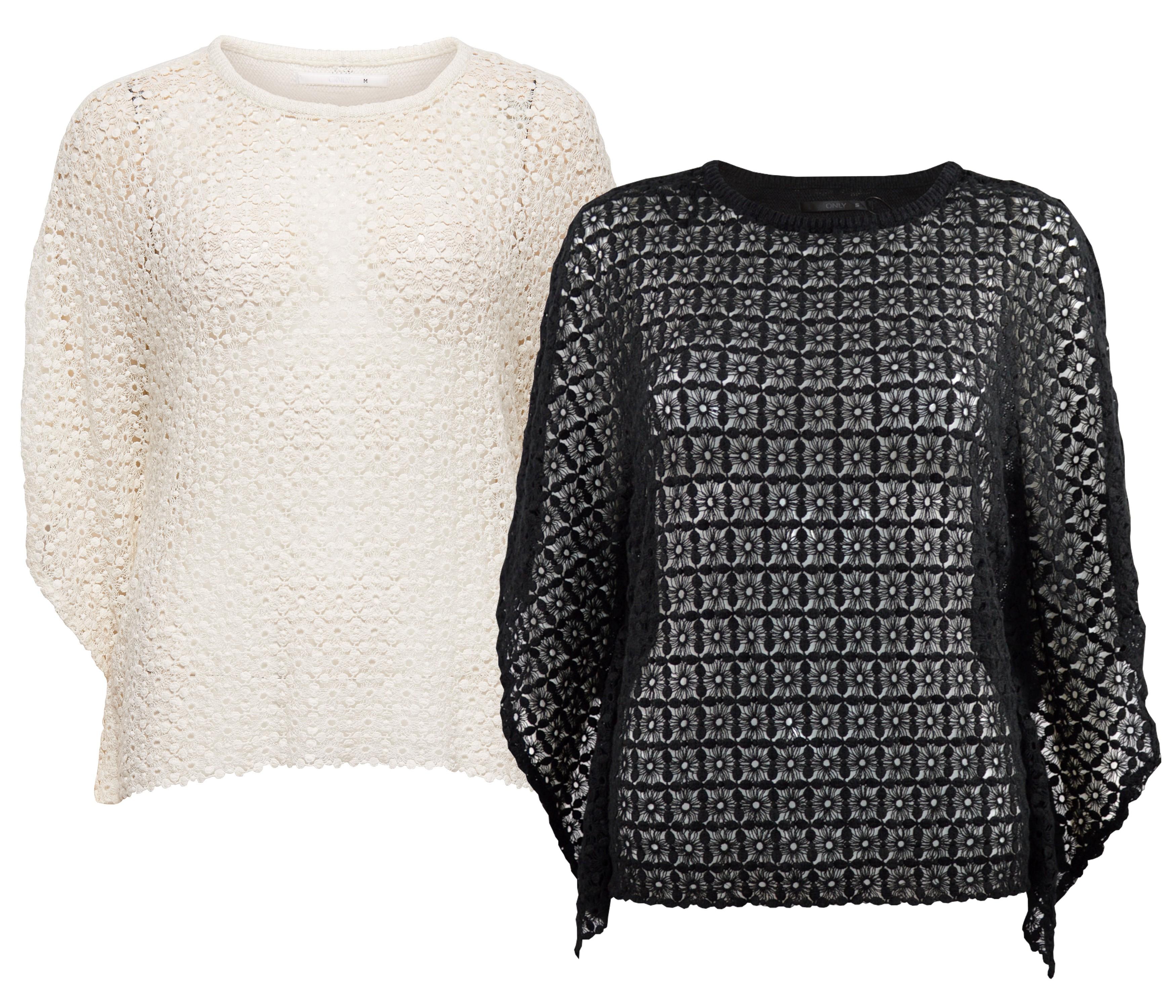only damen strick h kel shirt top pullover onlamya poncho. Black Bedroom Furniture Sets. Home Design Ideas
