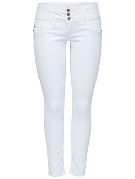 ONLY Damen Denim Jeans onlANEMONE SOFT ANKLE PIM 907 white weiß knöchellang – Bild 2