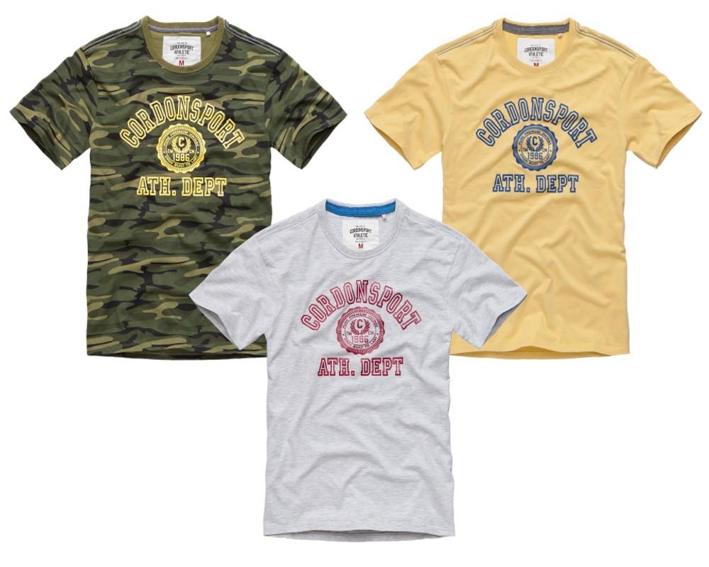 b4457242db7ef9 CORDON SPORT BERLIN Herren T-Shirt mit Print OLE rundhals kurzarm ...