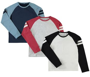 NAME IT Kinder Jungen Pullover Shirt nitBEN K LS TOP langarm in 3 Farben – Bild 1
