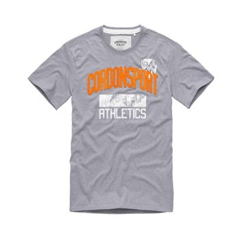 CORDON SPORT BERLIN Herren T-Shirt TOMMY mit Logo Athletics grau