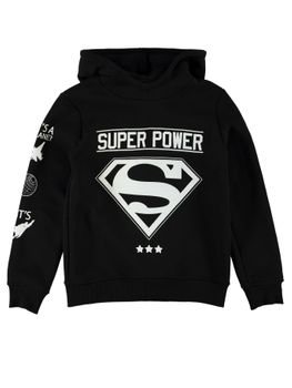 NAME IT Kinder Jungen Kapuzenpullover Sweat-Shirt SUPERHERO CARTER HOOD Superman – Bild 1