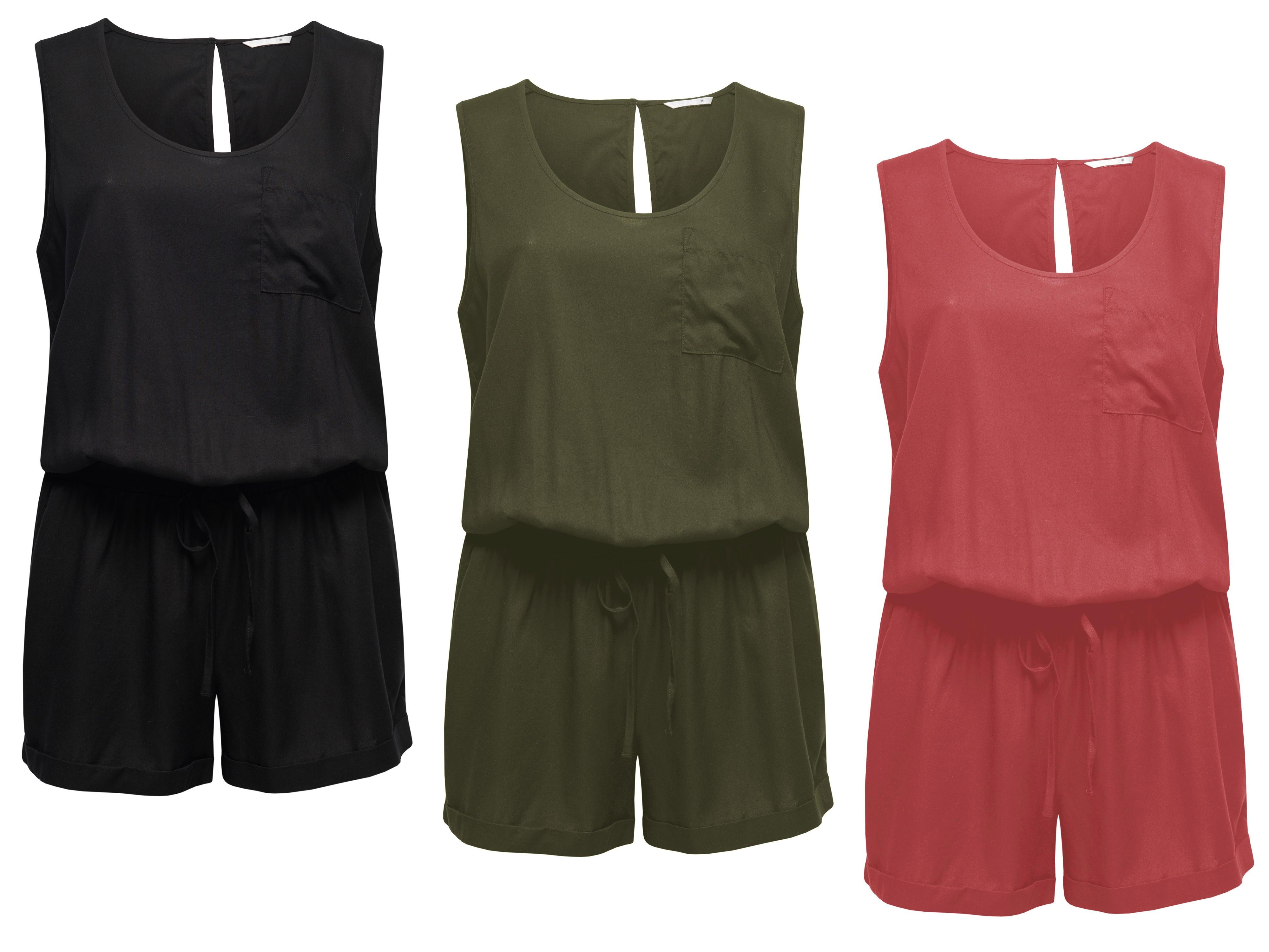 4ff7b6eecb8701 ONLY Damen Overall Jumpsuit onlGEGGO SL PLAYSUIT NOOS kurz Sommer ...