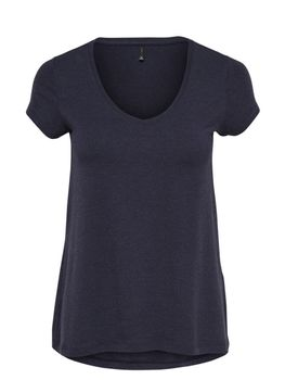 ONLY Damen Oversize T-Shirt onlMOSTER S/S V-NECK TOP NOOS schwarz blau grün – Bild 4