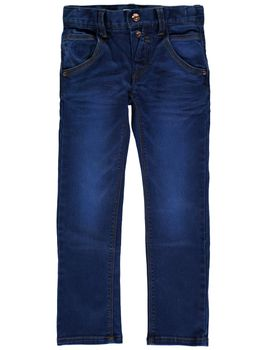 NAME IT Kinder Jungen Jeans Hose nitTERRY SLIM/SLIM DNM PANT NMT NOOS Medium Blue – Bild 1