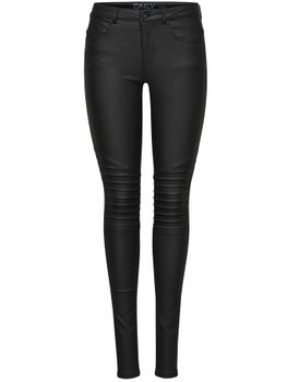 ONLY Damen Hose Jeans Leggings onlNEW ROYAL REG SK. BIKER COATED NOOS schwarz – Bild 2