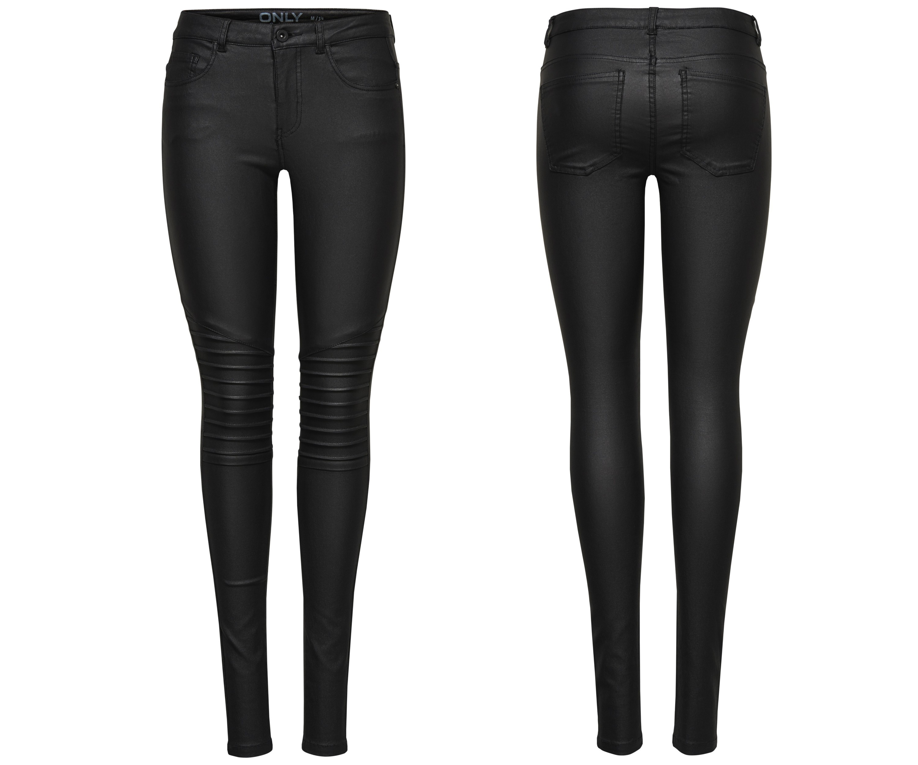 5fd2497bed7edc ONLY Damen Hose Jeans Leggings onlNEW ROYAL REG SK. BIKER COATED NOOS  schwarz