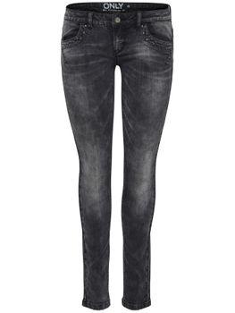 ONLY Damen Jeans onlIVY SL STUD DNM JEANS GUA GREY NOOS skinny denim  – Bild 1