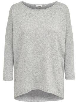 ONLY Damen Oversize Strick-Pullover Shirt onlELCOS 4/5 SOLID TOP NOOS vokuhila – Bild 6