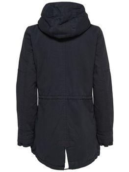 ONLY Damen Winterjacke Jacke Mantel onlLEEONA CANVAS PARKA JACKET Teddyfell – Bild 3