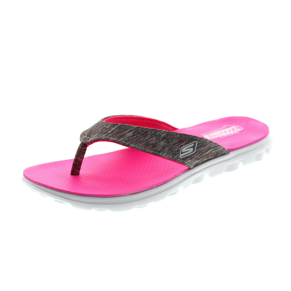 SKECHERS - Zehentrenner FLOW THONG 13631 gray hot pink
