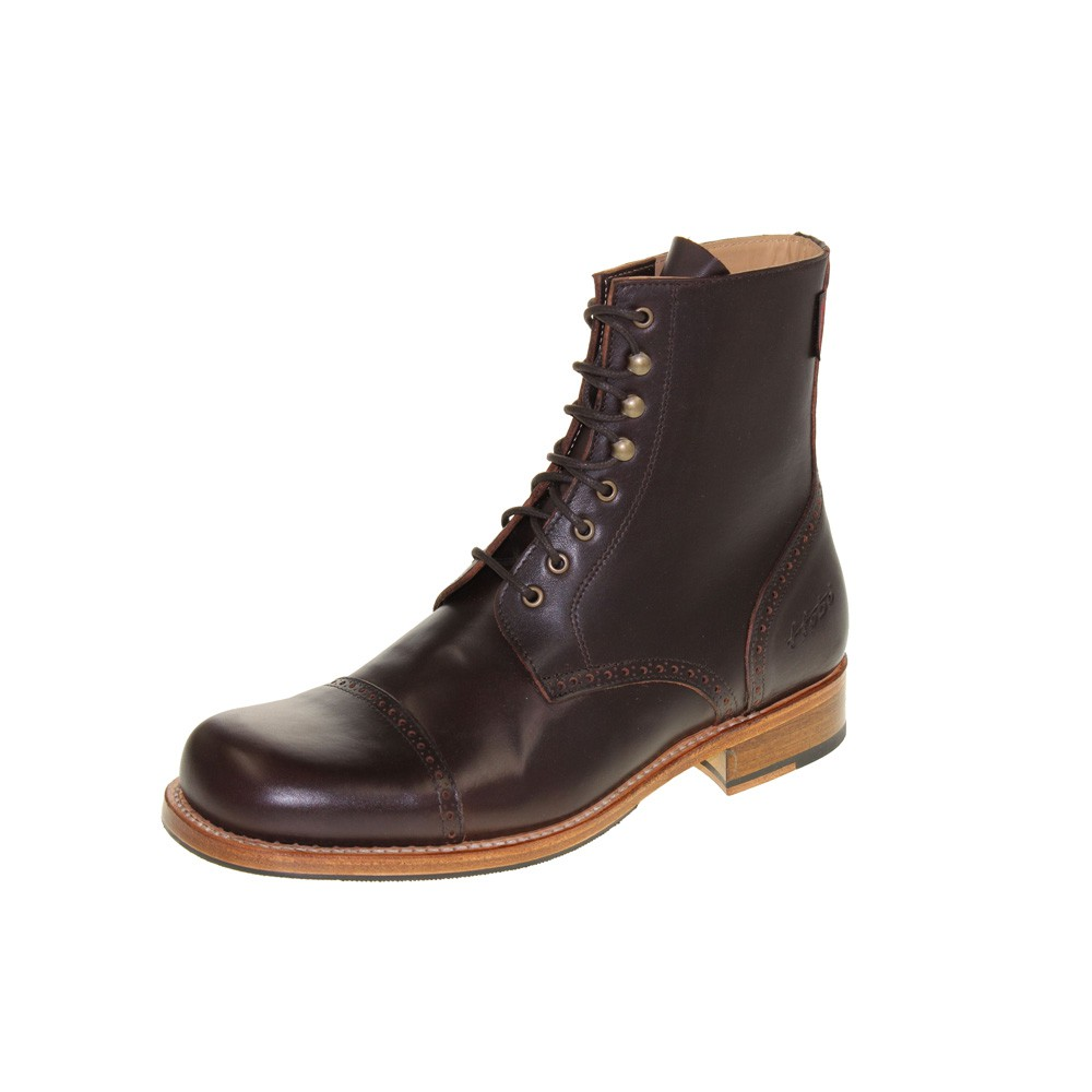 HOBO Herren - Boots DERBY COMMANDER LR - dark brown