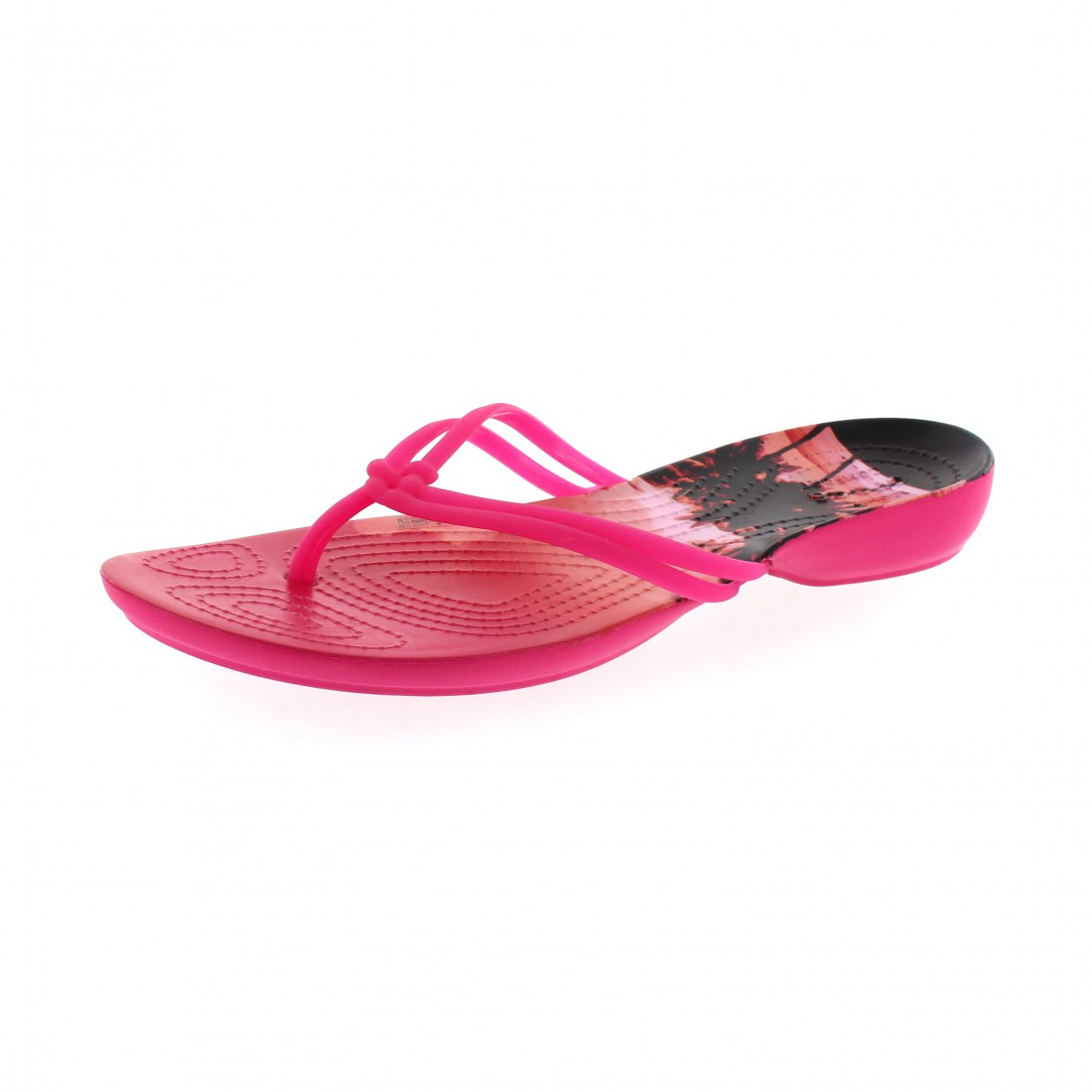 CROCS - ISABELLA GRAPHIC FLIP - candy pink tropical