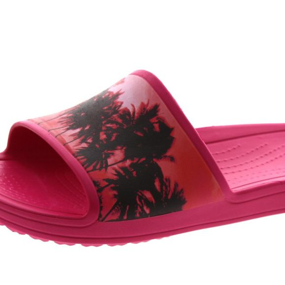 CROCS Damen - SLOANE GRAPHIC SLIDE - candy pink tropical - Thumb 6