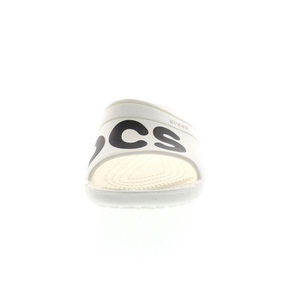CROCS Schuhe - Sandale CLASSIC GRAPHIC SLIDE - white black - Thumb 2