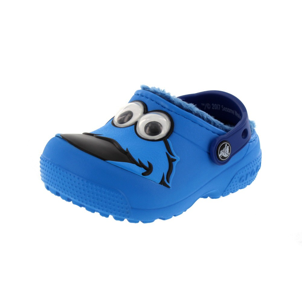 CROCS Kinder - FunLab Lined Cookie Monster - ocean