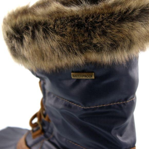 SKECHERS Damenstiefel - Windom SNOWY 49823 - navy tan - Thumb 7