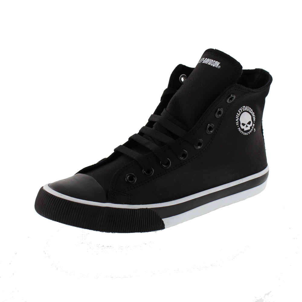 HARLEY DAVIDSON Men - High Top Sneaker BAXTER - D93341 - black white
