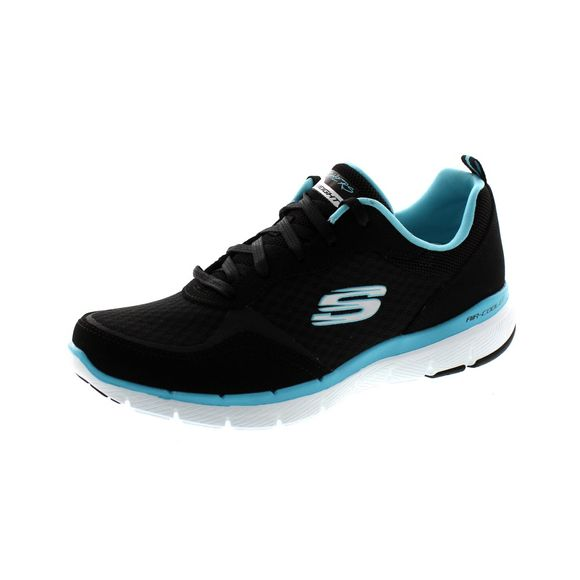 SKECHERS - Flex Appeal 3.0 GO FORWARD 13069 - black turquoise - Thumb 1