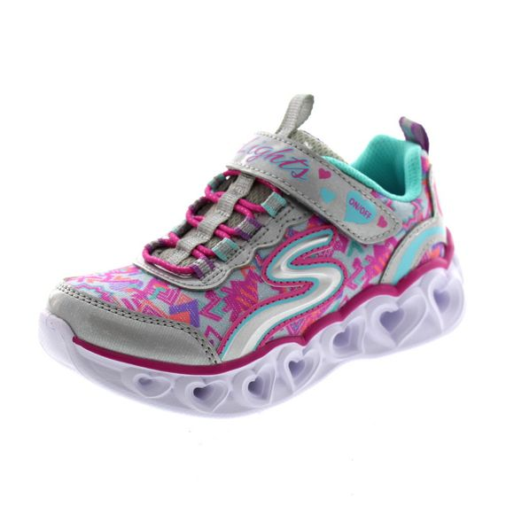 SKECHERS Kinder - S Lights HEART LIGHTS 20180 L - silver multi - Thumb 1