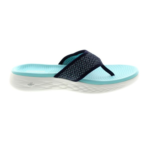 san francisco 7bb1c 4714f ... SKECHERS Damen - ON THE GO 600 GLOSSY - 16150 - navy aqua - Thumb 3 ...