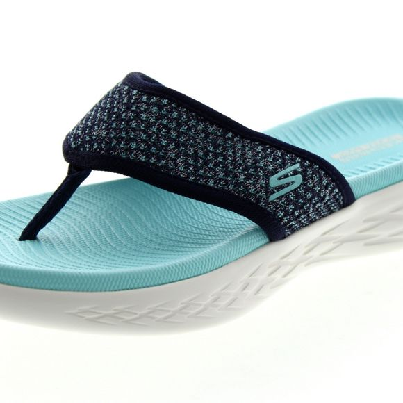 sports shoes f9355 71770 ... SKECHERS Damen - ON THE GO 600 GLOSSY - 16150 - navy aqua - Thumb 6