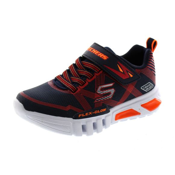 SKECHERS Kinder - S Lights FLEX GLOW 90542L - navy red - Thumb 1