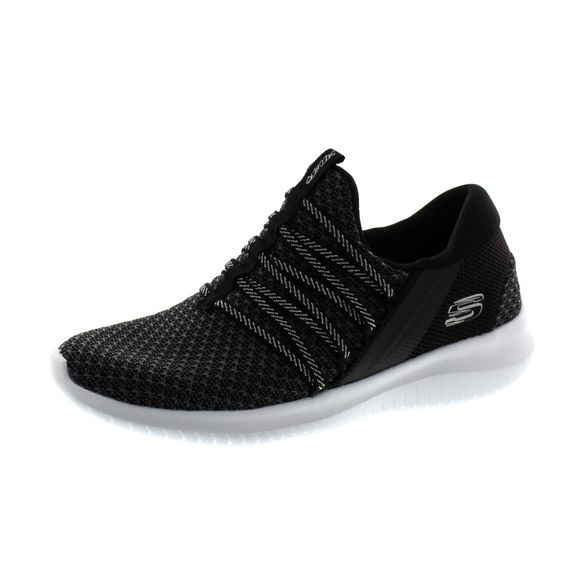 SKECHERS Damen - Ultra Flex BRIGHT FUTURE 12849 - black white - Thumb 1