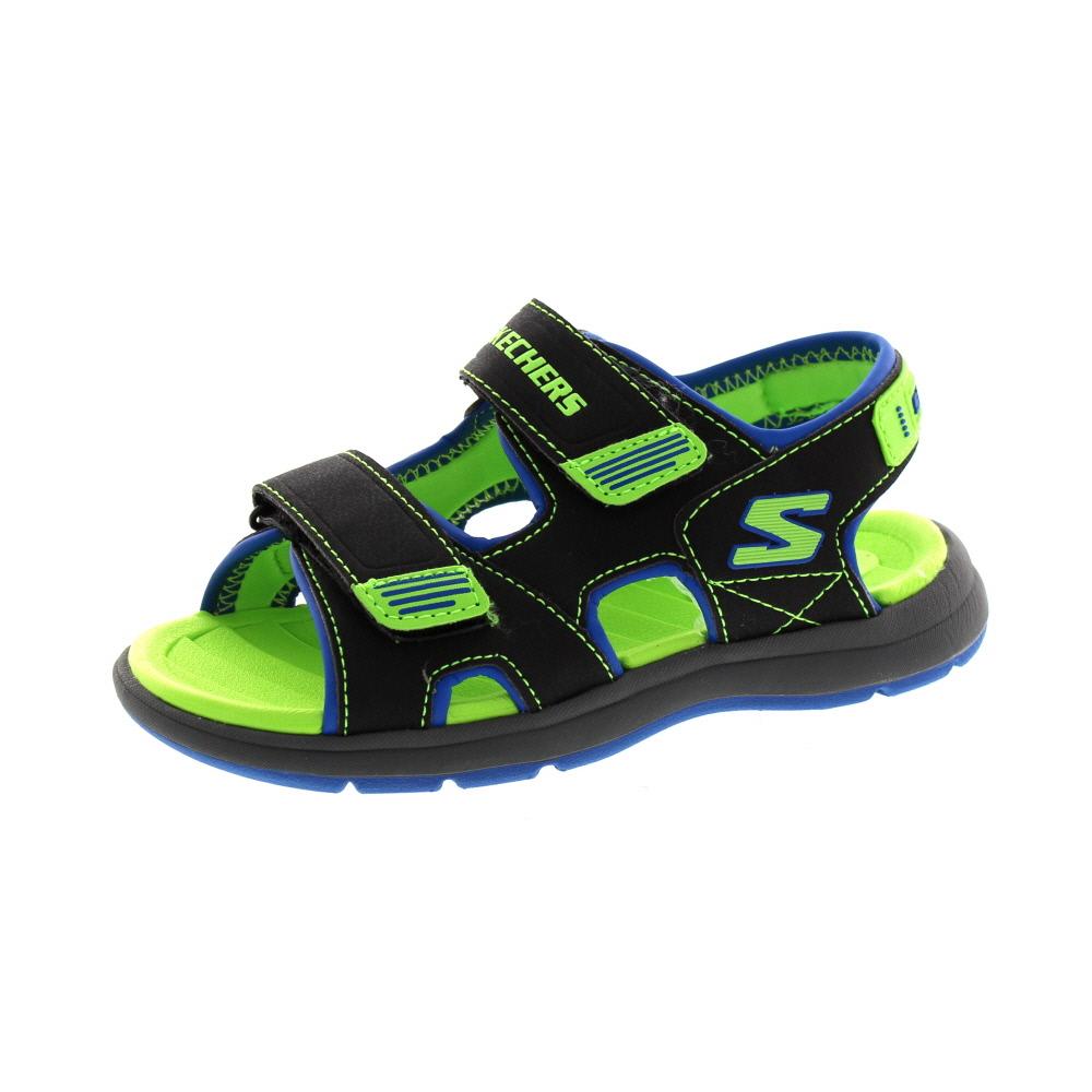 SKECHERS Kinder - Sandale SUN SPURT - 97125L - black blue lime