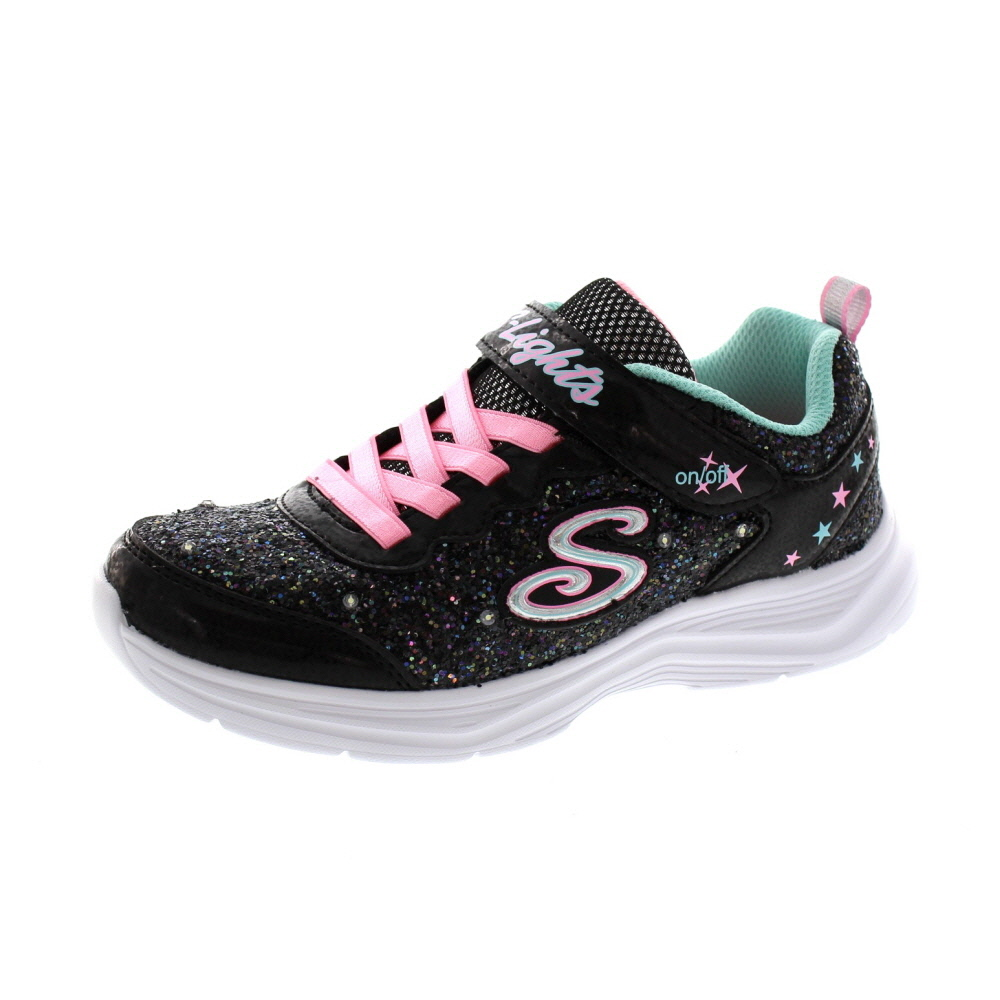 SKECHERS Kinder - S Lights - Glitter n`Glow - 20267L - black pink