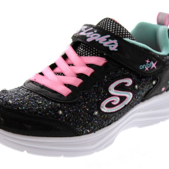 SKECHERS Kinder - S Lights - Glitter n`Glow - 20267L - black pink - Thumb 6
