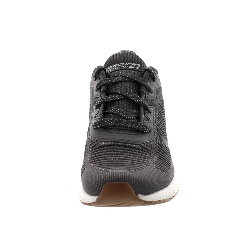 Dettagli su Skechers Sneakers Bob Squad Glam League 31347 Grigio Argento