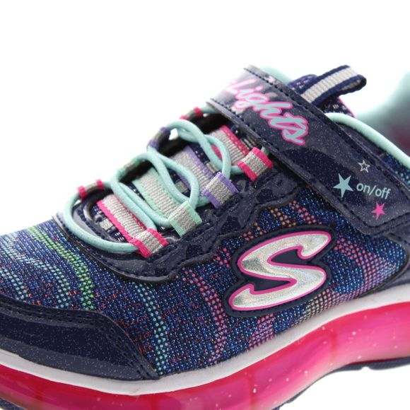 SKECHERS - S Lights Light Sparks 20283 L - navy multi - Thumb 6