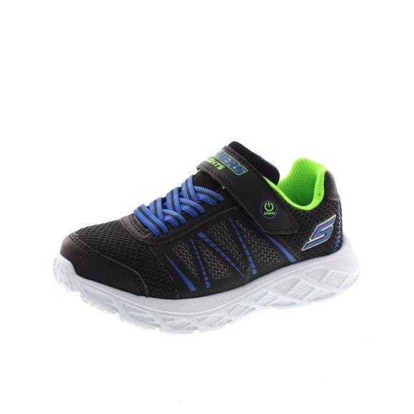 Skechers - S Lights Dynamic Flash 401530L - black blue lime - Thumb 1