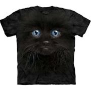 Black Kitten Face T Shirt