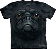 Black Pug Face T Shirt