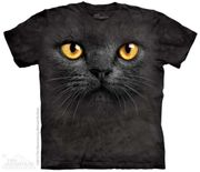 Big Face Black Cat T Shirt