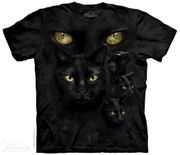 Black Cat Moon Eyes T Shirt