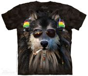 Smoking Rasta Wolf T - Shirt
