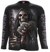Boss Reaper Langarm Shirt, schwarz