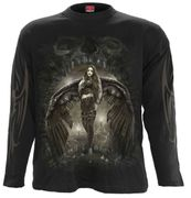 Dark Angel Langarm Shirt, schwarz