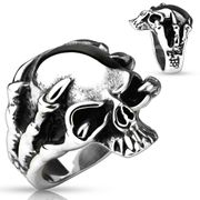Ring Dragon Claw Skull