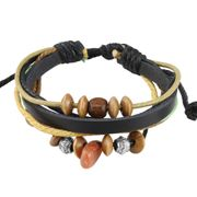 Trible Surfer Surferarmband Leder