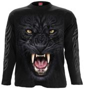 Tribal Panther Langarm Shirt, schwarz