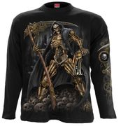 Steampunk Skeleton Langarm Shirt, schwarz
