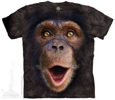 Happy Chimp Face T Shirt