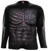 Ripped Langarm Shirt, schwarz